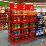 Sales Promotion Pringles Displayaufbau